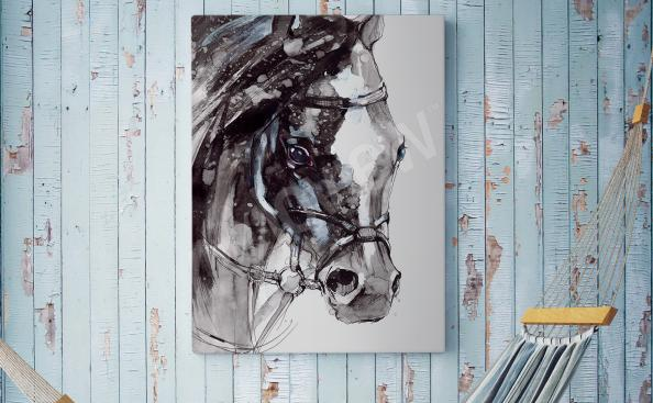 Quadro agreste con cavallo