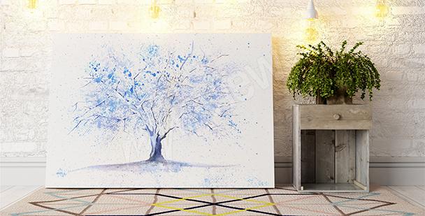 Quadro albero di inverno