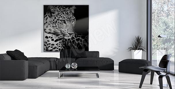 Quadro animali da safari - leopardo