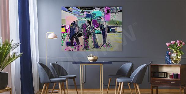 Quadro astratto immagine di elefante