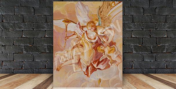Quadro barocco affresco angelo