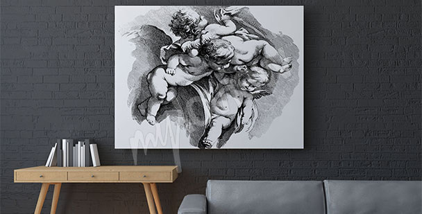 Quadro barocco angeli cherubini