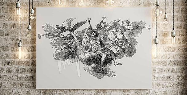 Quadro barocco con angeli