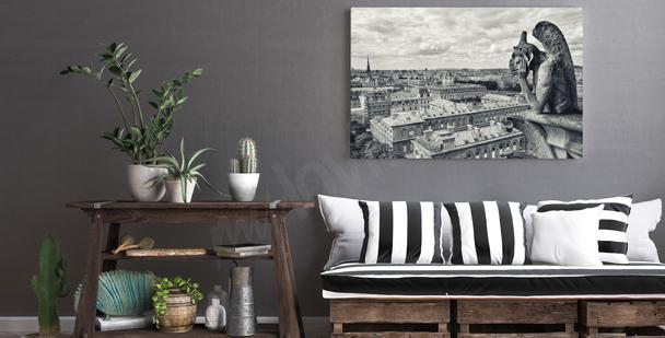 Quadro bianco e nero Parigi