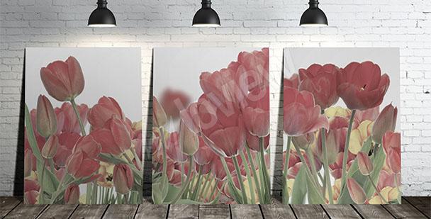 Quadro campo di tulipani