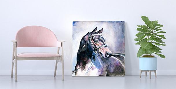 Quadro cavallo acquerello
