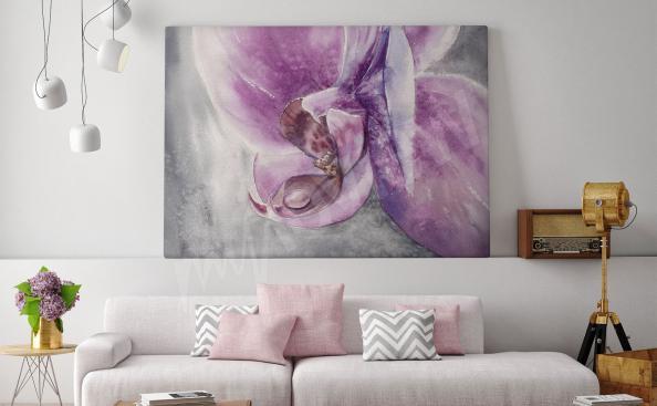 Quadro da salotto orchidea