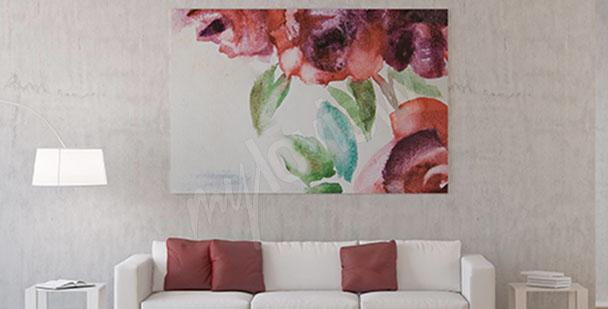 Quadro fiori di rosa