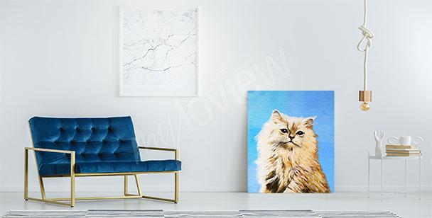 Quadro gattino rosso