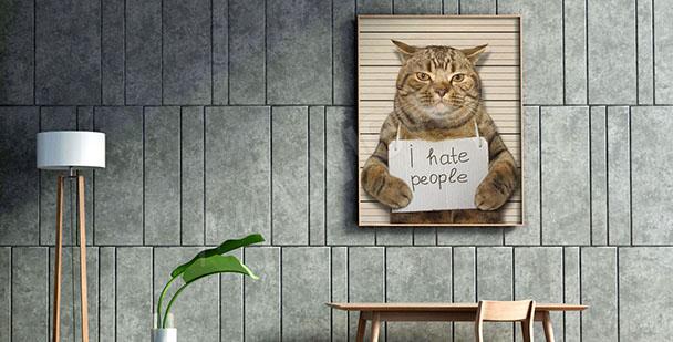 Quadro gatto per adolescenti