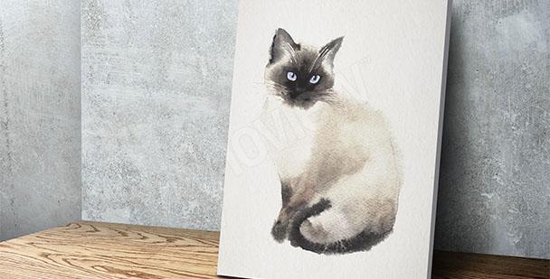 Quadro gatto pittura