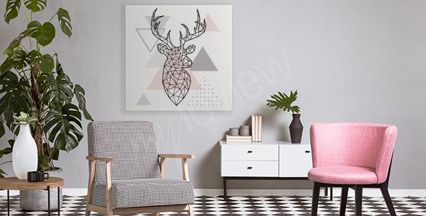 Quadro geometrico con cervo