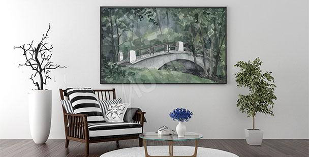 Quadro in salotto ponte