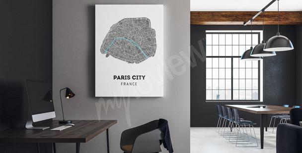 Quadro mappa della città