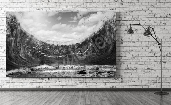 Quadro mare in bianco e nero