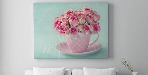 Quadro mazzo di rose
