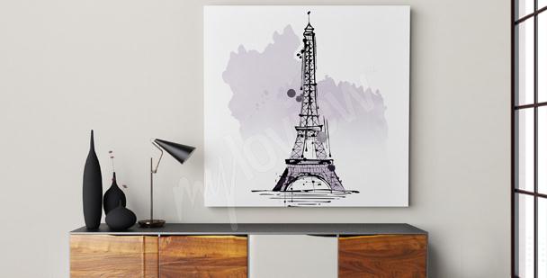 Quadro minimalista Torre Eiffel
