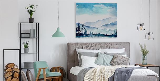 Quadro montagne per camera da letto