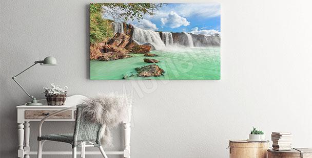 Quadro paesaggio cascata