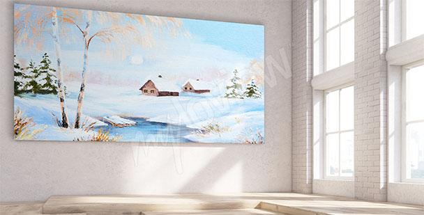 Quadro paesaggio invernale
