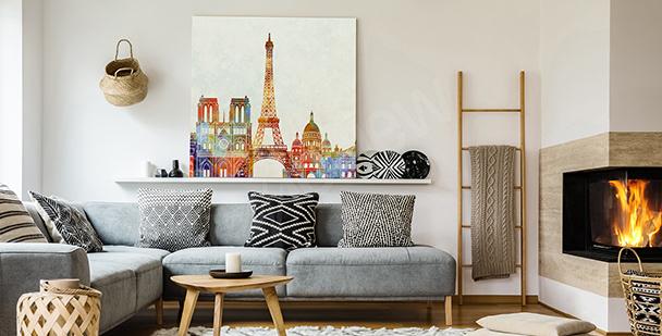 Quadro Parigi ad acquerello