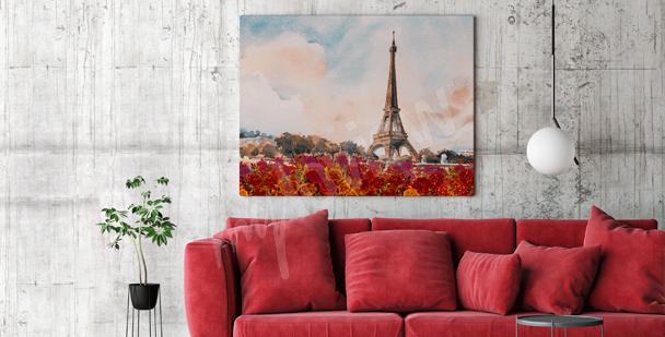 Quadro Parigi per soggiorno