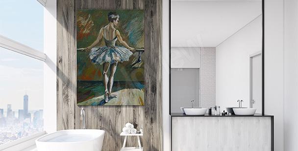 Quadro per bagno con ballerina