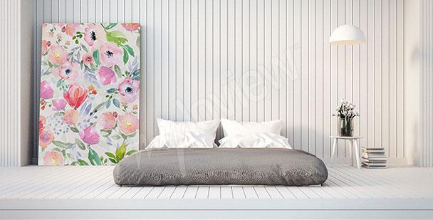 Quadri Camera da letto •su misura della parete | myloview.it