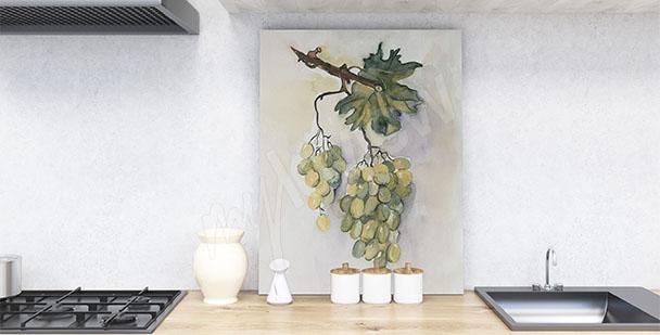 Quadro per cucina uva