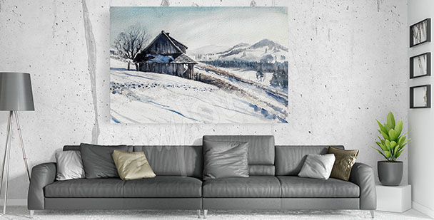 Quadro per salotto inverno