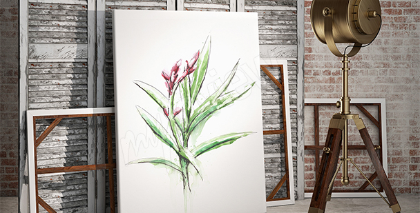 Quadro pianta minimalismo