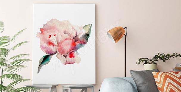 Quadro rosa ad acquerello