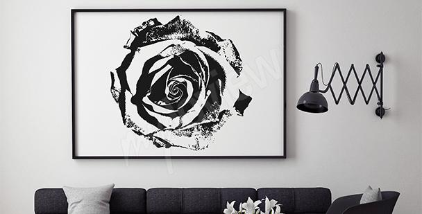 Quadro rosa bianco nero