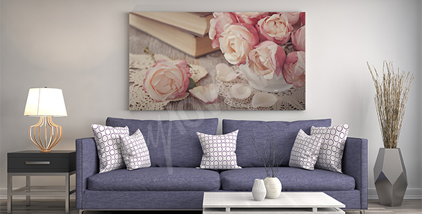 Quadro rose per salotto