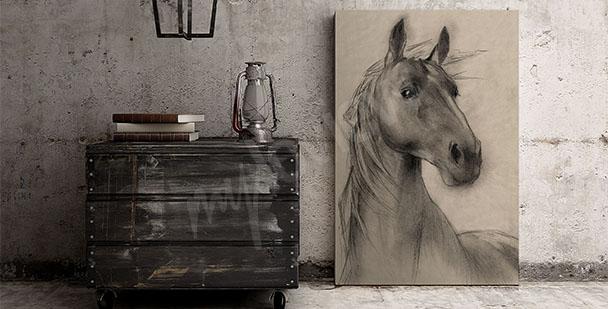 Quadro testa di cavallo
