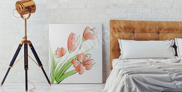 Quadro tulipani per camera