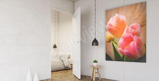 Quadro tulipani per ingresso