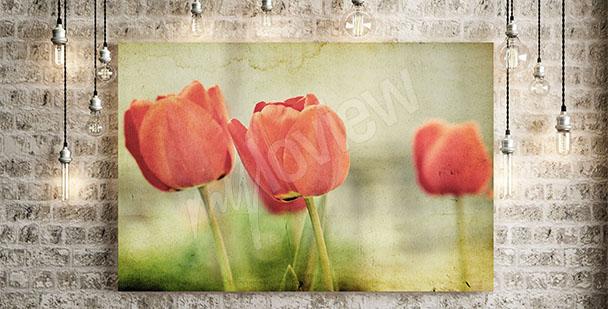 Quadro tulipani retrò