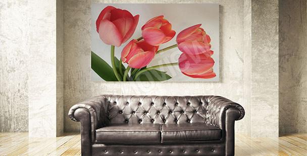 Quadro tulipani rossi