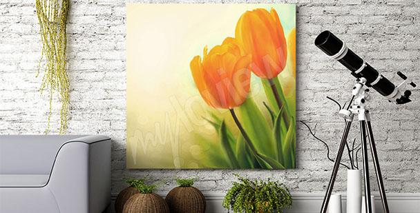 Quadro tulipani vintage