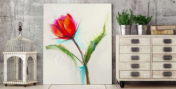 Quadro tulipano stile minimalista