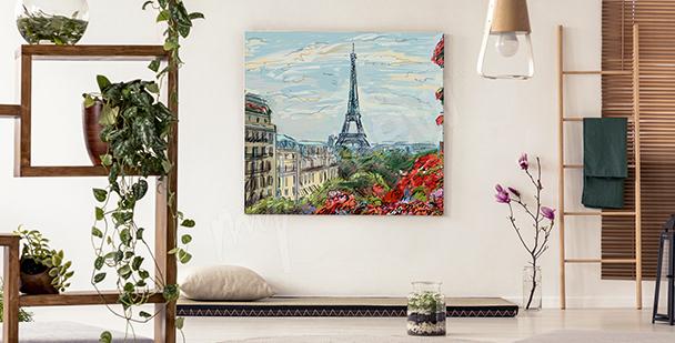 Quadro veduta Torre Eiffel