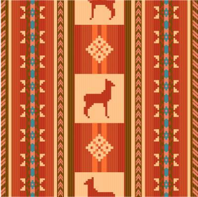Carta da parati Motivo ornamentale in tessuto etnico con lama